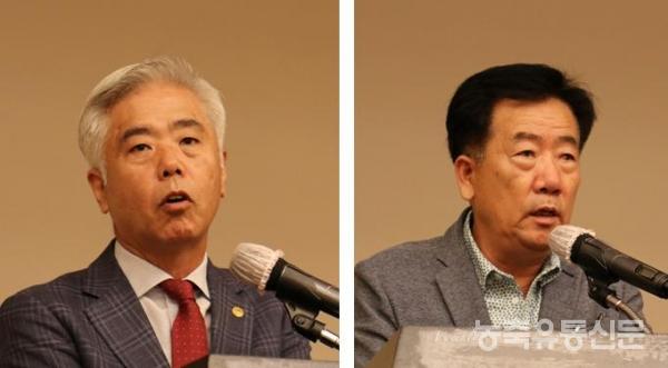 김홍길 회장(좌)과 민경천 위원장.
